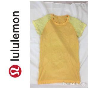 Lululemon Run Swiftly Short Sleeve💛Sun Buttercup